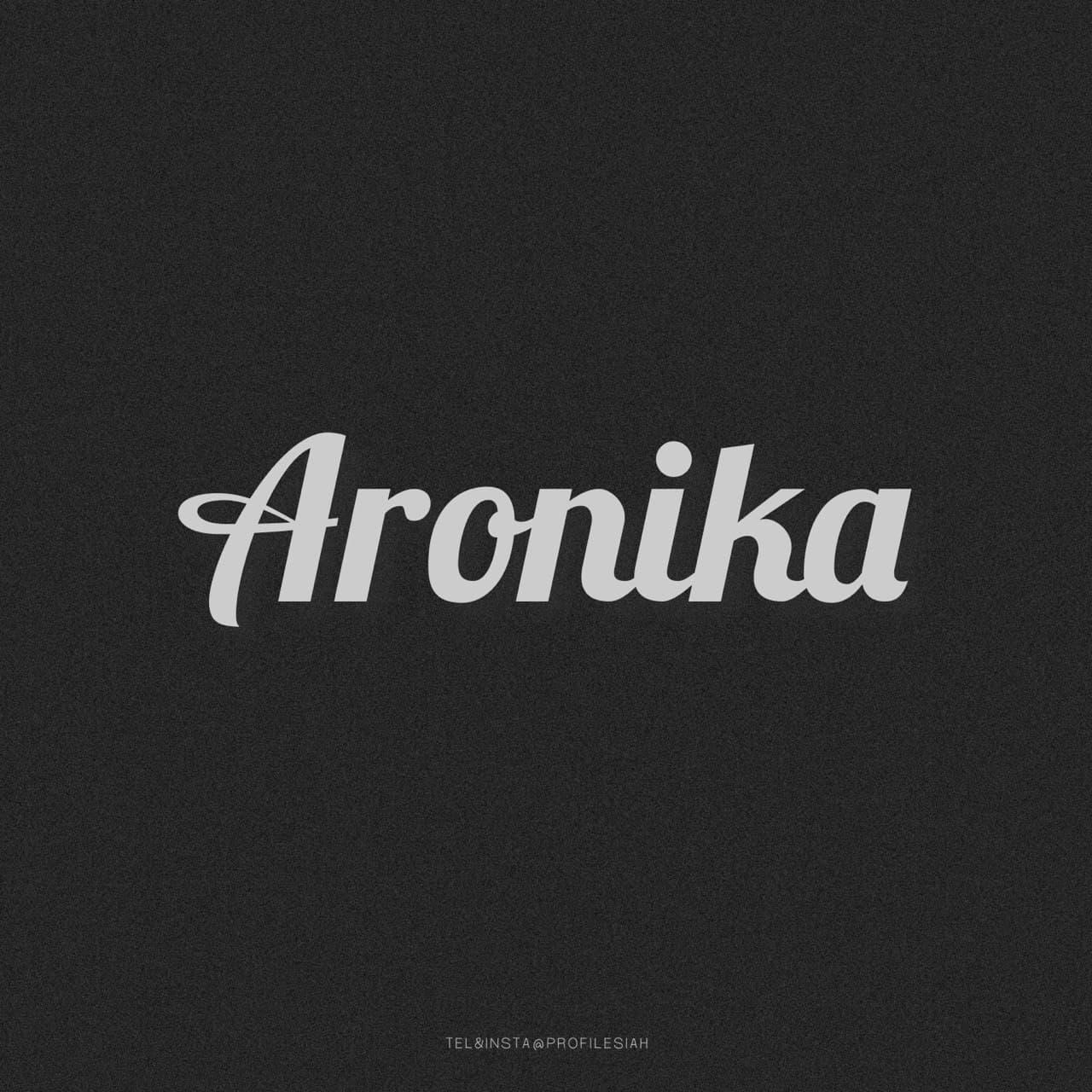 لوگوی اسم آرونیکا به انگلیسی